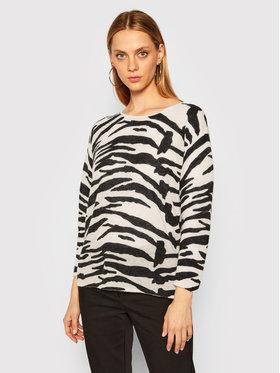 Calvin Klein Calvin Klein Sweter Alpaca Blend Zebra K20K202041 Beżowy Relaxed Fit