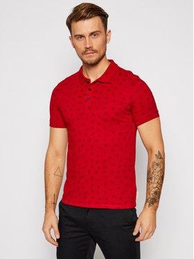 Guess Guess Тениска с яка и копчета M0BP59 K9WK0 Червен Slim Fit