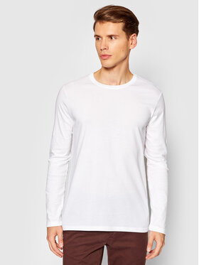 United Colors Of Benetton United Colors Of Benetton Longsleeve 3U53J1F05 Biały Relaxed Fit