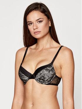 Calvin Klein Underwear Calvin Klein Underwear Biustonosz z fiszbiną Lighty Lined Pc 000QF6098E Czarny