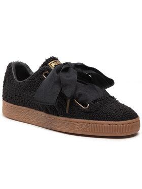 Puma Puma Sneakersy Basket Heart Teddy Wn's 367030 02 Čierna