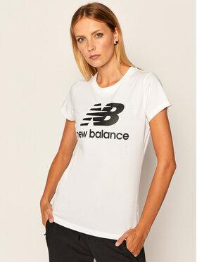 New Balance Tričko Esse St Logo Tee NBWT9154 Biela Slim Fit