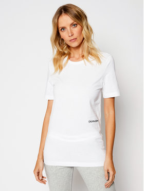 Calvin Klein Underwear Calvin Klein Underwear Lot de 2 t-shirts Statement 1981 000QS6198E Blanc Regular Fit