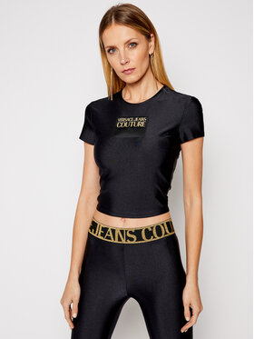Versace Jeans Couture Versace Jeans Couture Tricou B2HWA703 Negru Regular Fit