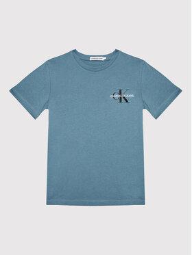 Calvin Klein Jeans Calvin Klein Jeans T-Shirt Monogram Logo IU0IU00068 Niebieski Regular Fit