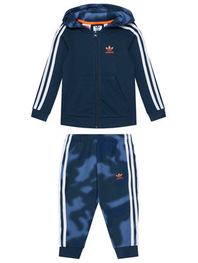 adidas adidas Sportinis kostiumas Camo Print GN4122 Tamsiai mėlyna Slim Fit