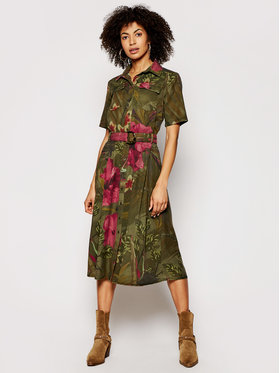 Desigual Desigual Košilové šaty Angela 21SWVN01 Zelená regular_fit