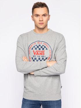 Vans Vans Суитшърт Checker Crew VN0A49TL02F1 Сив Regular Fit