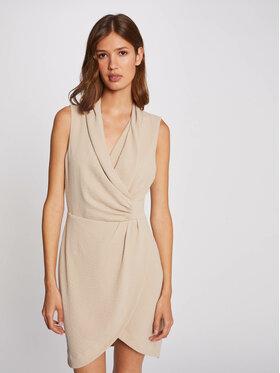 Morgan Morgan Koktejlové šaty 212-RENALD.F Béžová Slim Fit