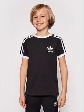 adidas adidas Marškinėliai 3Stripes Tee DV2902 Juoda Regular Fit