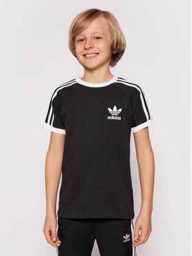 adidas adidas Tričko 3Stripes Tee DV2902 Čierna Regular Fit