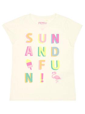 Primigi Primigi T-Shirt Sun&Fun 45222601 Biały Regular Fit