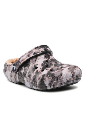 Crocs Crocs Šlepetės Classic Lined Bleach Dye C 207299 Violetinė