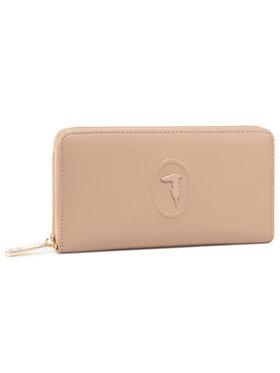 Trussardi Jeans Trussardi Jeans Große Damen Geldbörse Lisbona Zip 3 Pocket 75W00246 Beige