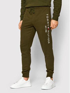 Tommy Hilfiger Tommy Hilfiger Teplákové kalhoty Basic Branded MW0MW08388 Zelená Regular Fit