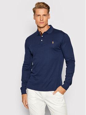 Polo Ralph Lauren Polo Ralph Lauren Тениска с яка и копчета Lsl 710721148007 Тъмносин Slim Fit