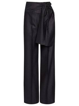 Victoria Victoria Beckham Victoria Victoria Beckham Pantaloni di tessuto Tailoring 2320WTR001398A Blu scuro Oversize