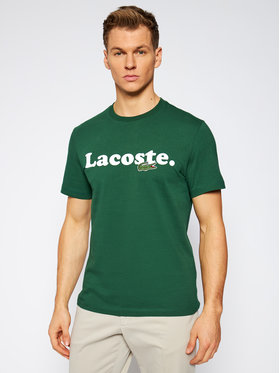 Lacoste Lacoste Tričko TH1868 Zelená Regular Fit