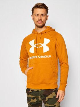 Under Armour Under Armour Majica dugih rukava Ua Rival Fleece Big Logo 1357093 Žuta Loose Fit