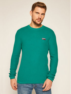 Tommy Jeans Tommy Jeans Pulover DM0DM09468 Verde Regular Fit