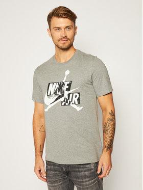 NIKE NIKE T-shirt Jordan Jumpman Classics Hbr CU9570 Grigio Standard Fit
