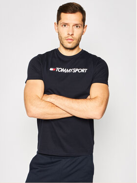 Tommy Sport Tommy Sport Tricou Chest Logo S20S200484 Bleumarin Regular Fit