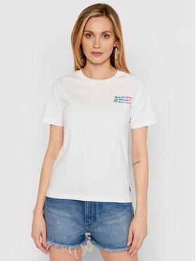 Converse Converse T-shirt Exploration Team 10022260-A02 Blanc Standard Fit