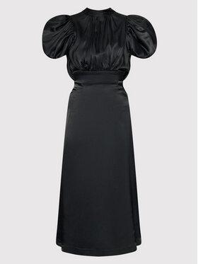ROTATE ROTATE Koktejlové šaty Dawn RT448 Černá Slim Fit