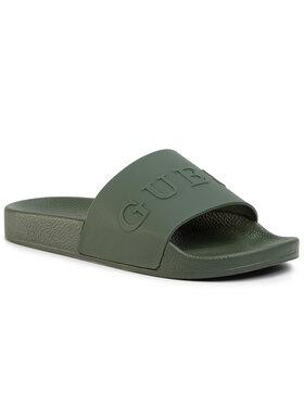 Guess Guess Šlepetės Slides F02Z03 BB00F Žalia