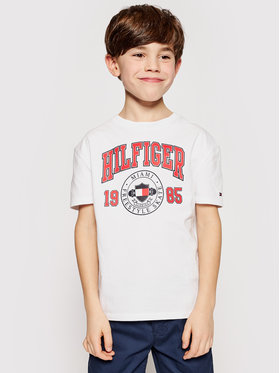Tommy Hilfiger Tommy Hilfiger T-Shirt Artwork KB0KB06519 D Biały Regular Fit