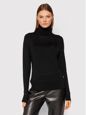 Calvin Klein Calvin Klein Golf Merino Roll K20K203202 Czarny Slim Fit