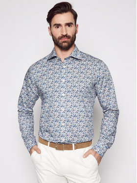 Eton Eton Košile 100002213 Modrá Slim Fit
