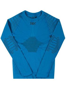 X-Bionic X-Bionic Bielizna termoaktywna górna Invent 4.0 INYT06W19J Niebieski Slim Fit