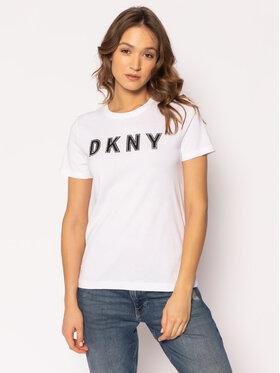 DKNY DKNY T-Shirt P9DH7CNA Biały Regular Fit