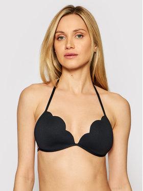 Seafolly Seafolly Bikini partea de sus Petal Edge Fixed Tri 31143-065 Negru