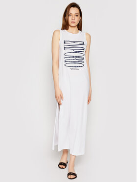 Emporio Armani Emporio Armani Sukienka plażowa 262635 1P340 71710 Biały Regular Fit