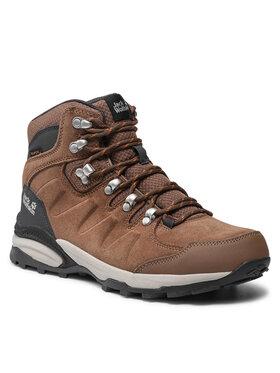 Jack Wolfskin Jack Wolfskin Παπούτσια πεζοπορίας Refugio Texapore Mid W 4050871 Καφέ