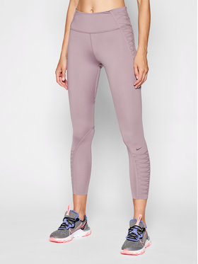 Nike Nike Legginsy One Luxe CZ9932 Fioletowy Tight Fit