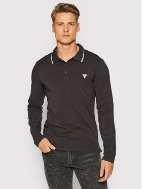 Guess Guess Tricou polo M1YP36 J1311 Gri Regular Fit