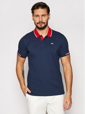 Tommy Jeans Tommy Jeans Polo Detail Rib Jaquard DM0DM10326 Granatowy Regular Fit