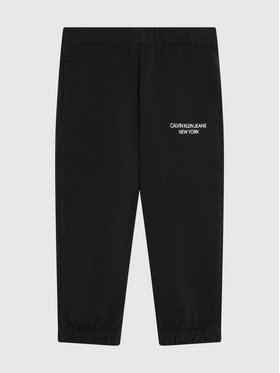 Calvin Klein Jeans Calvin Klein Jeans Spodnie dresowe Mini Monogram IG0IG01003 Czarny Regular Fit