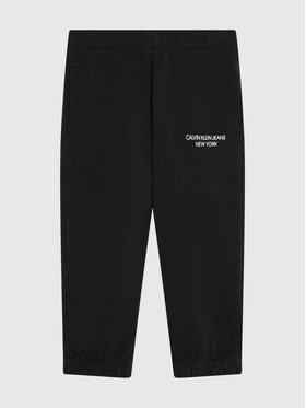 Calvin Klein Jeans Calvin Klein Jeans Teplákové kalhoty Mini Monogram IG0IG01003 Černá Regular Fit