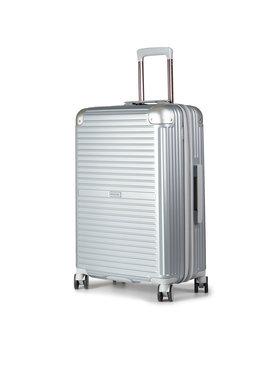 Puccini Puccini Közepes keményfedelű bőrönd Dallas PC027B 8 Ezüst