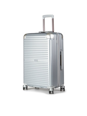 Puccini Puccini Střední Tvrdý kufr Dallas PC027B 8 Stříbrná