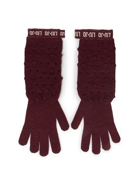 Liu Jo Liu Jo Dámske rukavice Guanti Maglia Goffra 269051 M0300 Bordová