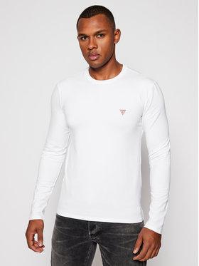 Guess Guess Marškinėliai ilgomis rankovėmis M0BI28 J1311 Balta Super Slim Fit