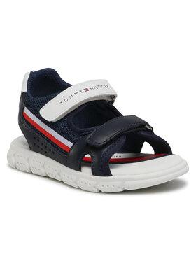 Tommy Hilfiger Tommy Hilfiger Sandały Velcro Sandal T1B2-31107-1176 Granatowy