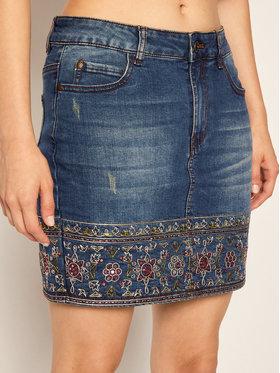 Desigual Desigual Gonna di jeans Denver 20WWFD04 Blu scuro Regular Fit