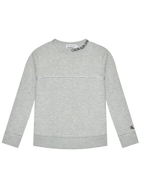 Calvin Klein Jeans Calvin Klein Jeans Džemperis Logo Piping IB0IB00676 Pilka Regular Fit