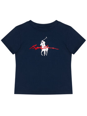 Polo Ralph Lauren Polo Ralph Lauren Marškinėliai Ss Graph Tee 322839239002 Tamsiai mėlyna Regular Fit